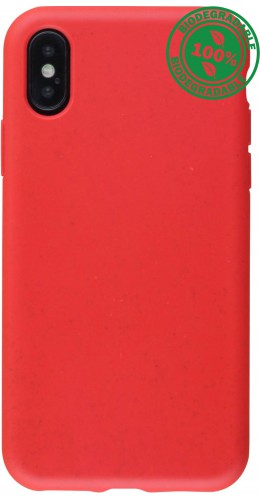 Coque iPhone X / Xs - Bio Eco-Friendly rouge