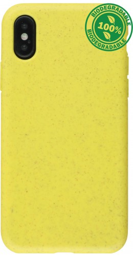 Coque iPhone X / Xs - Bio EcoFriendly jaune