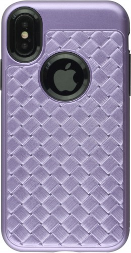 Coque iPhone X / Xs - Braided violet