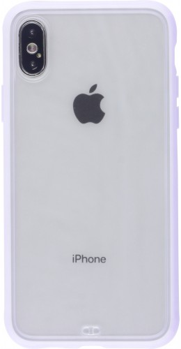 Coque iPhone X / Xs - Bumper Blur violet