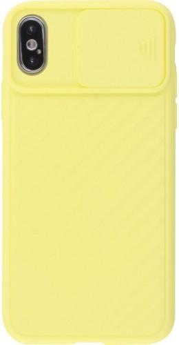 Coque iPhone X / Xs - Caméra Clapet jaune