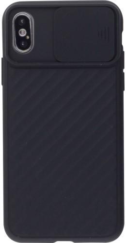 Coque iPhone Xs Max - Caméra Clapet noir
