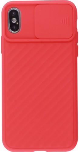 Coque iPhone X / Xs - Caméra Clapet rouge