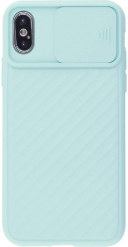 Coque iPhone X / Xs - Caméra Clapet turquoise