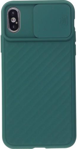 Coque iPhone X / Xs - Caméra Clapet vert foncé