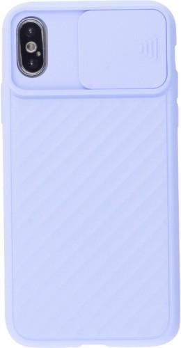 Coque iPhone X / Xs - Caméra Clapet violet