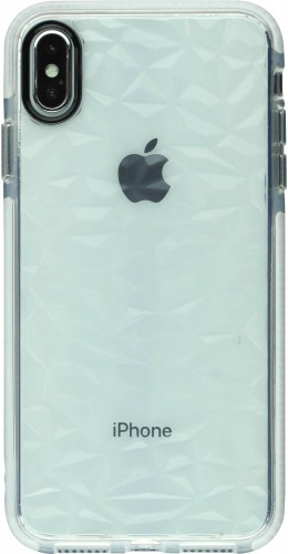 Coque iPhone Xs Max - Clear kaleido blanc
