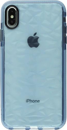 Coque iPhone Xs Max - Clear kaleido bleu