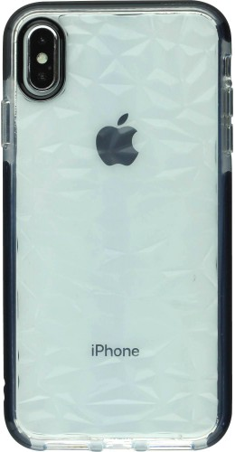 Coque iPhone Xs Max - Clear kaleido noir