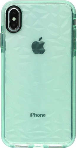 Coque iPhone XR - Clear kaleido vert