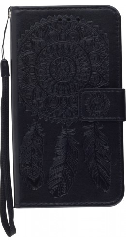 Coque iPhone X / Xs - Flip Dreamcatcher noir