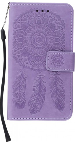 Coque iPhone X / Xs - Flip Dreamcatcher violet