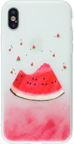 Coque iPhone XR - Frosted pastèque