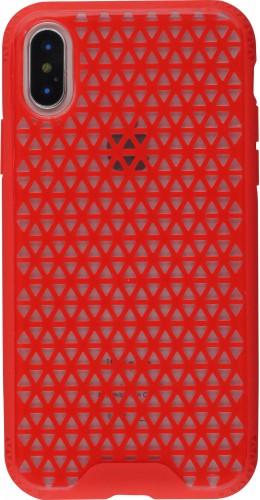 Coque iPhone X / Xs - Géométrique triangle rouge