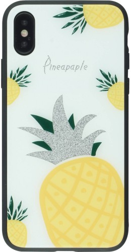 Coque iPhone X / Xs - Glass Pineapples