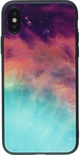 Coque iPhone X / Xs - Glass Space Nebula