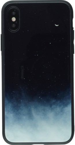 Coque iPhone X / Xs - Glass Space Gradient