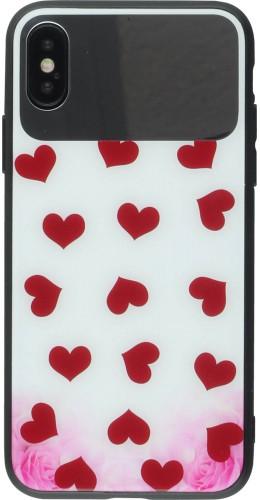 Coque iPhone X / Xs - Mirror Glass coeurs