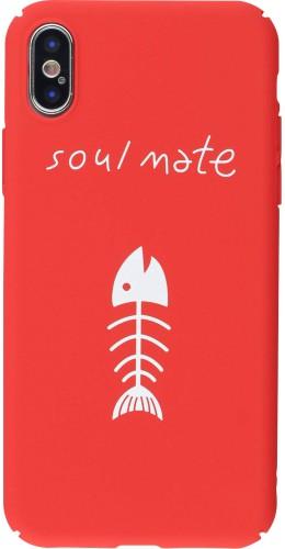 Coque iPhone X / Xs - Plastic Mat soul mate