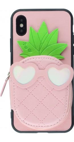 Coque iPhone X / Xs - Poche Ananas Miroir