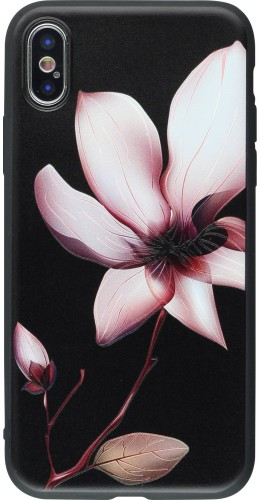 Coque iPhone XR - Print lotus noir