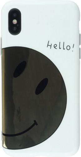 Coque iPhone X / Xs - Shine golden smile