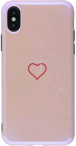 Coque iPhone X / Xs - Shine heart rose