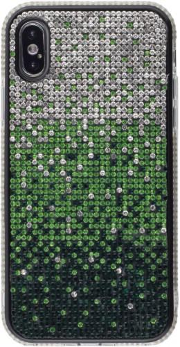 Coque iPhone X / Xs - Shiny Gradient vert