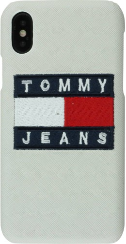 Coque iPhone X / Xs - Tommy jeans blanc
