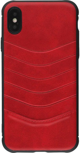 Coque iPhone X / Xs - V shape rouge