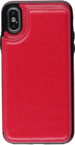 Coque iPhone X / Xs - Wallet Premium Cards rouge