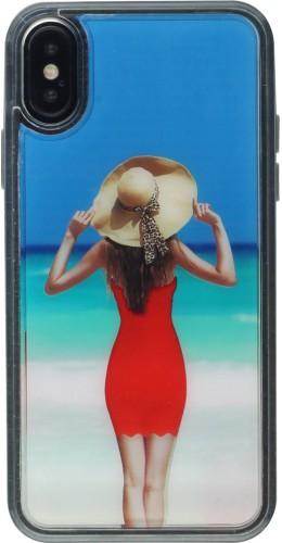 Coque iPhone X / Xs - Water Beach Dress Girl