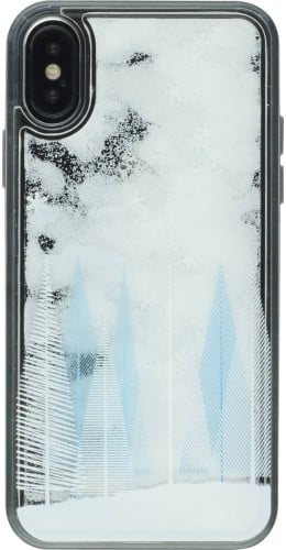 Coque iPhone X / Xs - Water Starts Snowflakes