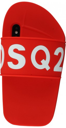 Coque iPhone X / Xs - Schlaps DSQ2 rouge