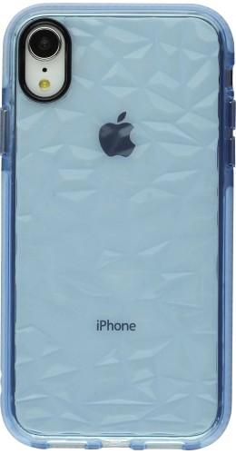 Coque iPhone XR - Clear kaleido bleu