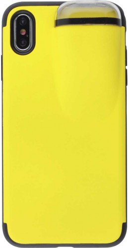 Coque iPhone Xs Max - 2-In-1 AirPods jaune