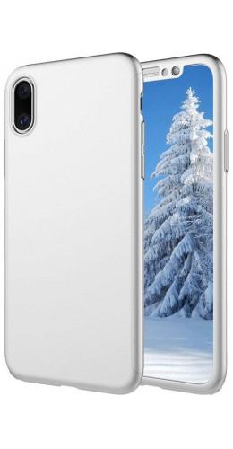 Coque iPhone XR - 360° Full Body argent
