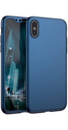 Coque iPhone Xs Max - 360° Full Body bleu foncé