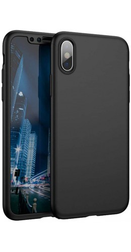 Coque iPhone XR - 360° Full Body noir