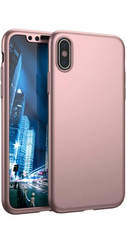Coque iPhone XR - 360° Full Body or rose
