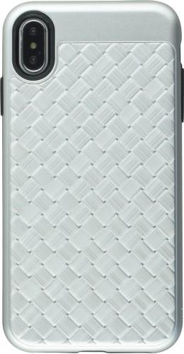 Coque iPhone Xs Max - Braided argent