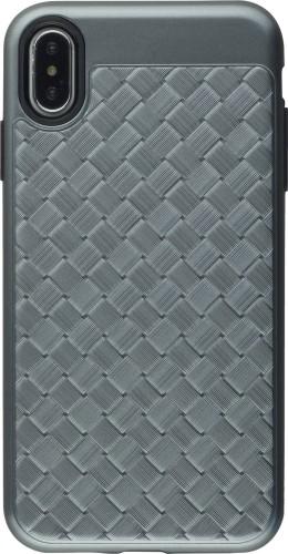 Coque iPhone Xs Max - Braided gris