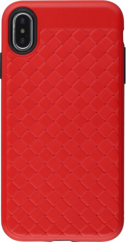 Coque iPhone Xs Max - Braided rouge
