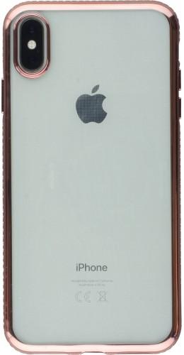 Coque iPhone Xs Max - Bumper Diamond rose clair