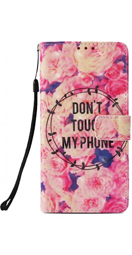Coque iPhone XR - Flip 3D don't touche my phone flower