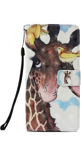 Coque iPhone Xs Max - Flip 3D giraffe