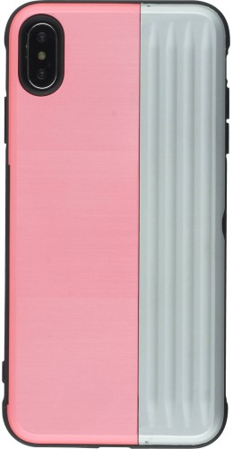 Coque iPhone XR - Secret card argent rose