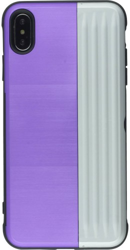 Coque iPhone XR - Secret card argent violet