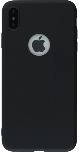 Coque iPhone Xs Max - Silicone Mat noir