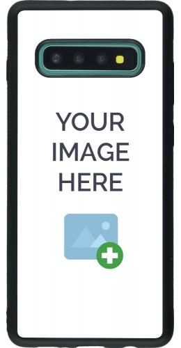 Coque personnalisée en Silicone rigide noir - Samsung Galaxy S10+